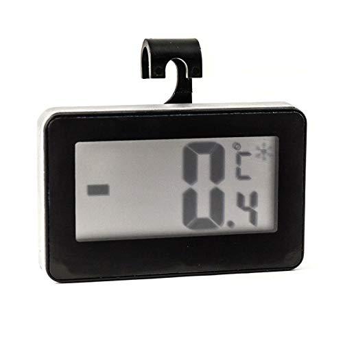 Lantelme 5839 Kühlschrankthermometer Digital mit Kombinierter Halterung Zum Stellen, aufhängen Oder Magnet -