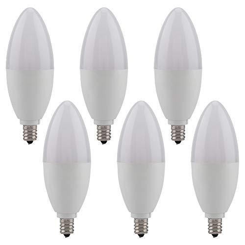 Riuty LED-Birne, E12 Kandelaber LED-Glühlampen LED-Kerzenlampenlampe Dekorative Warmweiß-Birne Nicht dimmbar 220V 5W 6Pcs -