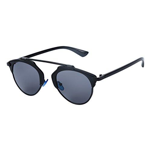 OUTEYE Gafas del Sol Sport UV400 Retro Gato Vintage Viaje Caballero Unisex