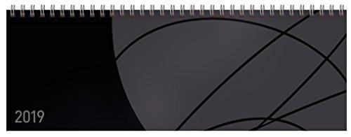 Tischquerkalender Professional Colourlux schwarz 2019: 1 Woche 2 Seiten; Bürokalender mit nützlichen Zusatzinformationen; Format: 29,8 x 10,5 cm