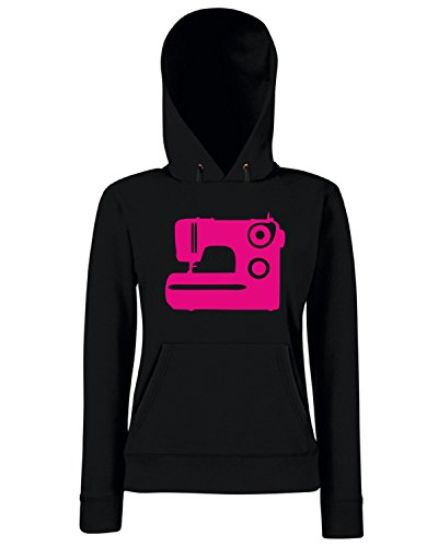T-Shirtshock - Sweats a capuche Femme MAT0071 Sewing Machine Maglietta Noir