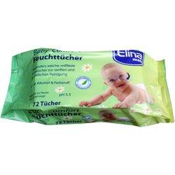 Babytücher, Feuchtücher 72 Stück mit Kamille und Aloe Vera, ohne Alkohol & Farbstoffe -