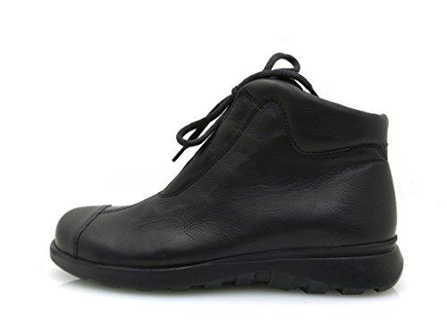 Think! klassischer Boot Lederschuhe Damen Schnürer Leder schwarz Kurzstiefel Schwarz