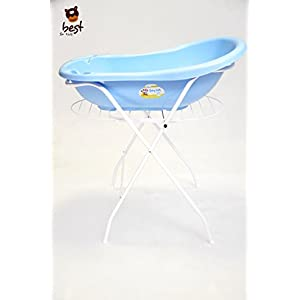 Best for Kids Universal Stand for Baby Bath Tub 84 and100 cm, with or without tray, white 1