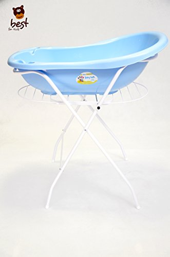 Best For Kids Universalständer für Babywannen, 84 und 100 cm, mit oder ohne Ablage, weiß, ohne Babywanne (84 cm mit Ablage)