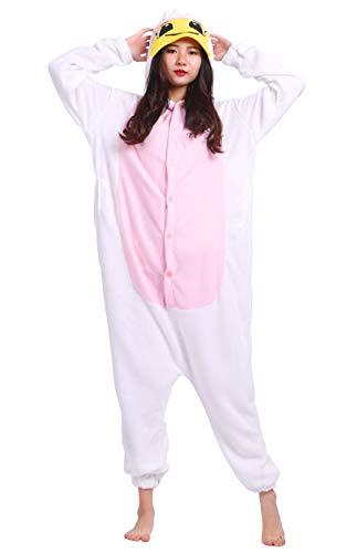 Jumpsuit Onesie Tier Karton Kigurumi Fasching Halloween Kostüm Lounge Sleepsuit Cosplay Overall Pyjama Schlafanzug Erwachsene Unisex Engel for Höhe 140-187CM (Engel Kostüme Für Erwachsene)