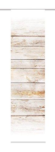 86893-740 braun H:245 x B:60 cm Schiebevorhang Digitaldruck Board, Dekostoff-Seidenoptik