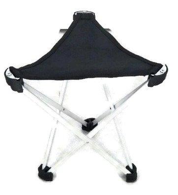 Dreibeinhocker, 3-Bein-Hocker Camping-Stuhl Dreibein-Hocker 28cm Sitzhöhe handliche 275g leicht, faltbar, Leichtaluminium