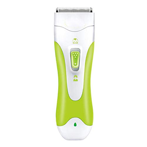 IKVRU Baby Hair Clipper, Ceramic Blade Ultra Quiet & Waterproof Grooming Kit, Chargeable Hair Trimmer for Baby Baby Kids Children Boys Girls Girls,Green - Trimmer Haircut Kit