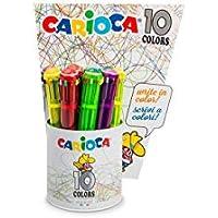 Carioca Maxi Kugelschreiber 10Farben PZ12 preisvergleich bei billige-tabletten.eu