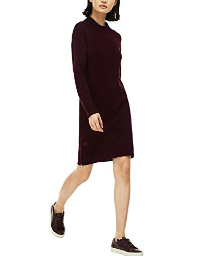 Lacoste Women's Women's Burgundy Wool Dress Wool Red