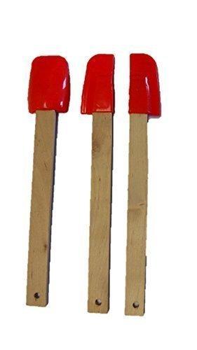 Rot-kochsystem (3 teiliges Mini Teigschaber Set rot)
