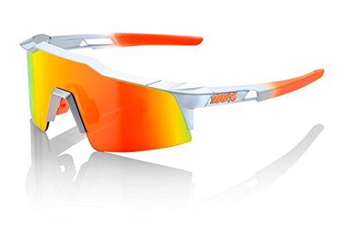 100% speedcraft Occhiali Unisex adulto, Arc Light/Grigio/Arancione/Schermo Specchio