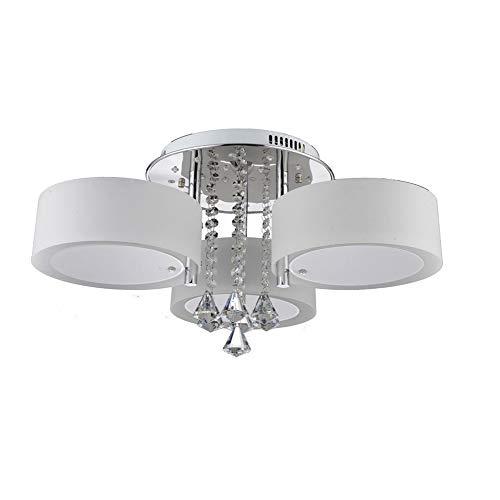 LHJCN LED Moderne Acryl Kristall Kronleuchter 3/5/6 Lichter (Chrom) Moderne Deckenleuchte Fixture für, Flur, Schlafzimmer, Wohnzimmer LED Modern Deckenlampe Deckenleuchte, White Light 3 - 6 Licht Chrom Kronleuchter