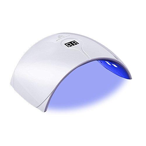 Nageltrockner,BOOYE® 36W Nagellampe mit UV Nagellampe für Shellac und Gelnagellack Lichthärtegerät mit Timer,tragbare Nagel Lampe für Nägel - Expressaushärtung 99 sek - LCD Display,Weiß (Kompatible Uv-lampe)