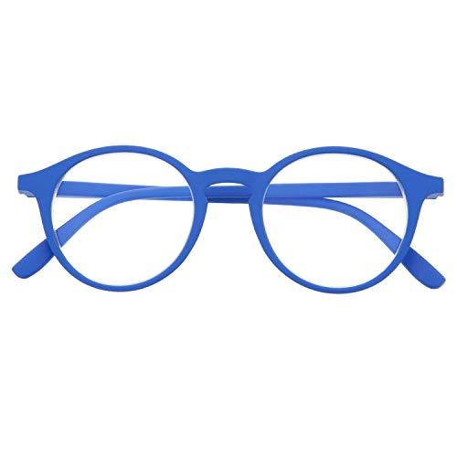 DIDINSKY Blaulichtfilter Brille für Damen und Herren. Blaufilter Brille mit stärke oder ohne sehstärke für Gaming oder Pc. Gummi-Touch-Tempel und Blendschutzgläser. Klein +1.5 - UFFIZI