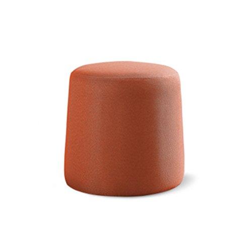 Stool Health UK Hocker Mini Waschbar Holz Stoff Schuhbank Kreative Runde Pier Freizeit Test Hocker Tragbare Kleine Sofa Fuß Make-up Hocker 32 X 36 cm Welcome (Farbe : Orange)