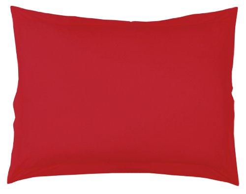 Douceur d'Intérieur 1640700, Kopkissenbezug, 50 X 70 Cm, Lit Uni, Unifarben 57 Fäden, Rot