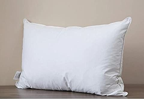 Luxurious Pillow 75% White Duck Down Pillow,White (Uk Standard 48x74cm(19x29inch))