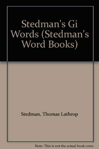 Stedman's Gi Words PDF Books