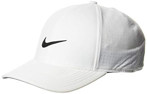 Nike AeroBill Legacy 91 Golf-Cap, Weiß (Blanco 100), M/L - Nike Langarm Dri-fit-golf