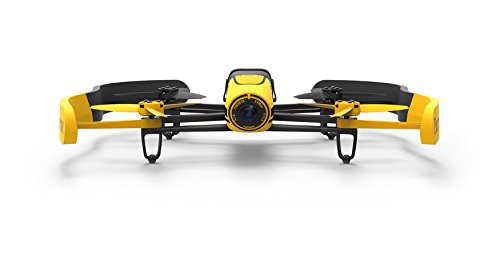 Parrot BEBOP - Dron cuadricóptero (Full HD 1080P, 14 Mpx, 47 Km/h, 11 minutos de vuelo, 8GB, GPS, Vídeo Live Streaming) + 2 baterías, color amarillo