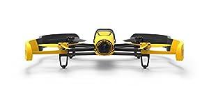Parrot BEBOP - Dron cuadricóptero (Full HD 1080P, 14 Mpx, 47 Km/h, 11 minutos de vuelo, 8GB, GPS, Vídeo Live Streaming) + 2 baterías, color amarillo