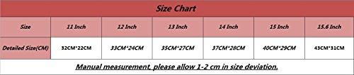YiJee Sleeve per Laptop Impermeabile Custodia di Borsa per Portatile Caso Protettiva 13 Pollice Pink 1