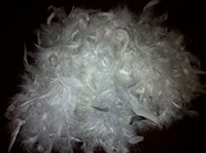 LARGE WHITE FLUFFY FEATHER GARLAND CHRISTMAS TREE WEDDING FLORAL DECORATION
