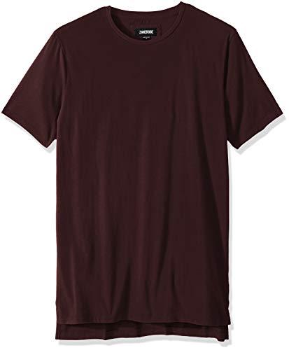 Zanerobe Herren Elongated Split Side Flintlock Short Sleeve Tee Shirt Hemd, Port, X-Klein -