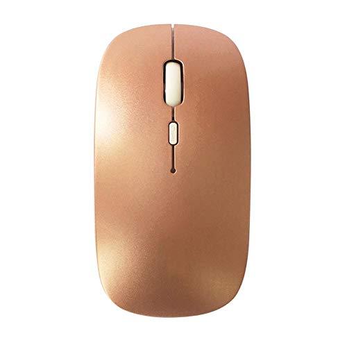 2019 Innovation Praktische kabellose Maus wiederaufladbar stromsparend Stummschaltung Notebook Computer Gaming für Desktop, Laptop, PC, MacBook rose gold