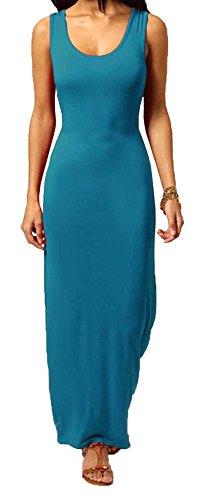 Generic - Robe - Uni - Sans Manche - Femme * taille unique bleu sarcelle