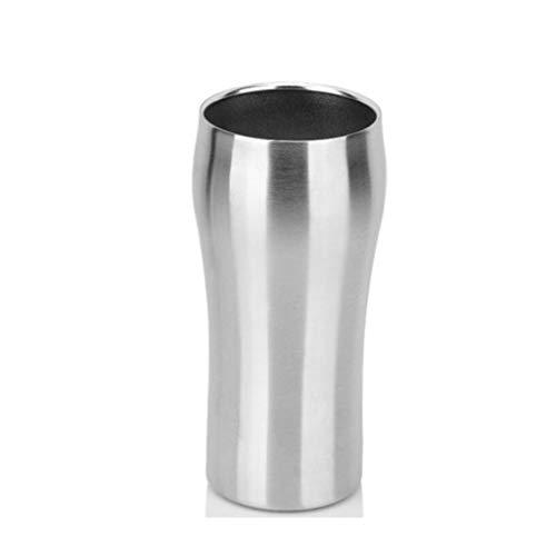 Yycdd bicchiere da vino senza stelo in acciaio inox, boccale da birra, tazza da caffè creativa, design elegante, calici infrangibili, ambientale (400 ml)