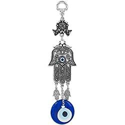 Wanddeko Wandschmuck Deko - Nazar Boncuk Evil Eye - Fatimas Hand - Glücksbringer blaues Auge