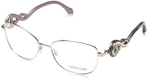 Roberto Cavalli Brillengestelle (Roberto Cavalli Damen Rc5027 016-54-16-135 Brillengestelle, Silber, 54)