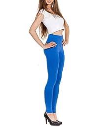 EloModa® Leggings Hoher Bund in verschiedene Farben Baumwolle mit Lycra Gr. S M L XL XXL 3XL