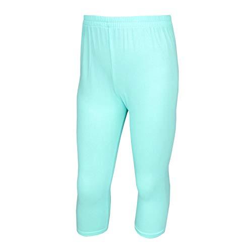 TupTam Mädchen Leggings 3/4 Capri Blickdicht, Farbe: Mint, Größe: 146 -