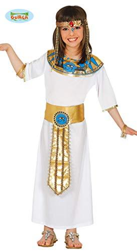 Cleopatra Mädchen Kostüm - Guirca Ägypterin Orientkostüm Mädchen Kostüm Cleopatra Abendland Gr. 110-146, Größe:110/116