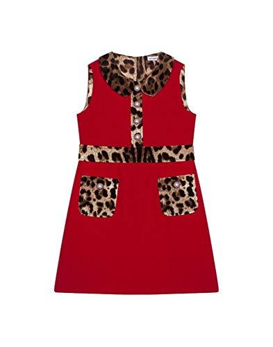 DOLCE E GABBANA Mädchen L51ds9g7tpqr2254 Rot Viskose Kleid - Dolce Gabbana Kleid Schuhe