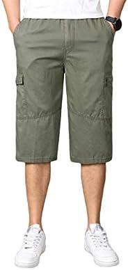 Heheja heren bermuda cargo shorts mannen vrije tijd korte broek 3 4 lang met zijzakken