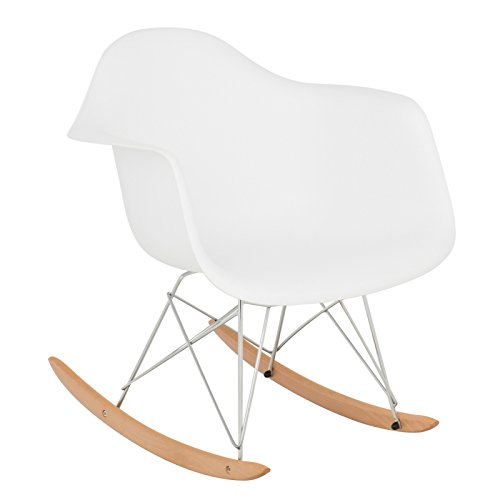 SKLUM Mecedora IMS Blanco Cromado & Madera Natural - (Elige Color)