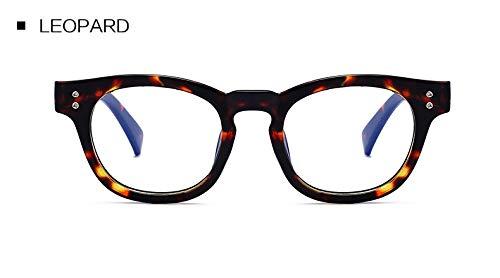 GPZFLGYN Anti-Blau Computer Gläser Anti-Fatigue Vintage Runde Brillen Rahmen Anti-Blau Strahlen Strahlung Objektiv Brillengestell Männer Frauen Computer Brillen Pc-Rahmen