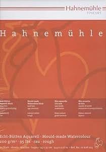 Hahnemühle cartonnées a4–lot de 20 feuilles de papier aquarelle 200 g/m ² - 24 x 32 cm-surface rugueuse