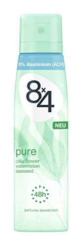 8x4 Deo Spray Pure, ohne Aluminium, 6er Pack (6 x 150 ml)