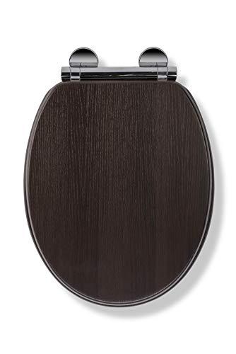 Croydex Toilettensitz, Holz, Walnuss-Effekt, Einheitsgröße