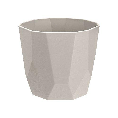 Elho B.for Rock 14 - Flowerpot - Warm Grey - Indoor  - Ø 14.5 x H 12.9 cm