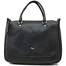 Bruno Rossi Borsa a mano in vera pelle color Nero ML26G e91f734c8e3