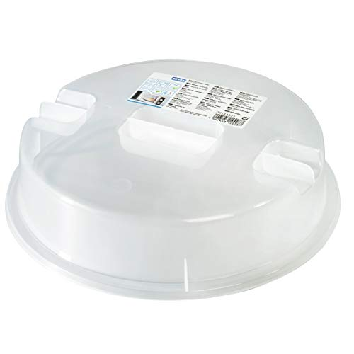 Xavax Ergo 2-designed für Mikrowelle, Kunststoff, transparent, Durchmesser 26cm x Höhe: 6,5 cm