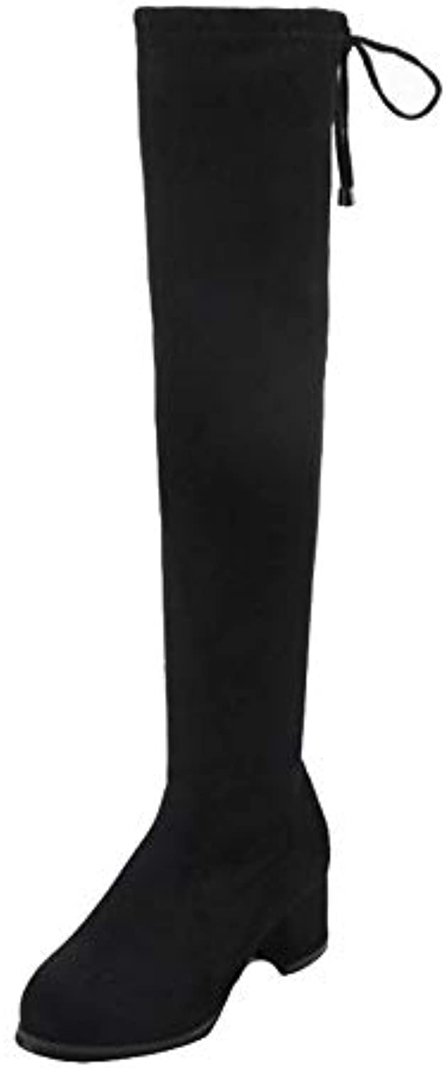 48847535cd4 CHICMARK CHICMARK CHICMARK Women Over-The-Knee Chunky Boots B07GV88248  Parent a80282