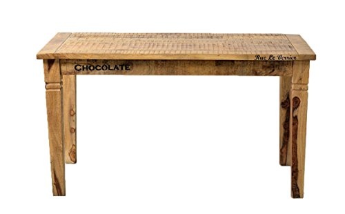 e tisch mango SIT-Möbel Rustic 1914-04 Tisch, ca. 4 Sitzplätze, aus Mangoholz, Antik, braun, Wortprints, 140 x 76 x 70 cm